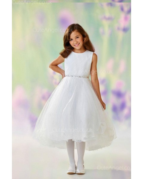 Girls Dress Style 0610818 Ivory Ankle Length Beading Round A-line Dress in Choice of Colour