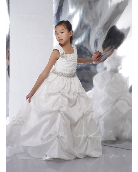 Girls Dress Style 0615718 Ivory  Beading Square A-line Dress in Choice of Colour