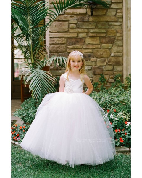 Girls Dress Style 0618718 Ivory Floor-length Applique V-neck Ball Gown Dress in Choice of Colour