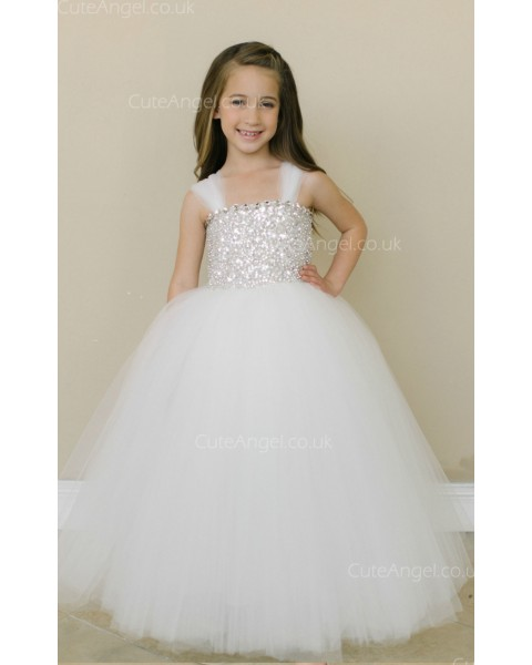 Girls Dress Style 0619318 Ivory Floor-length Beading Bateau Ball Gown Dress in Choice of Colour