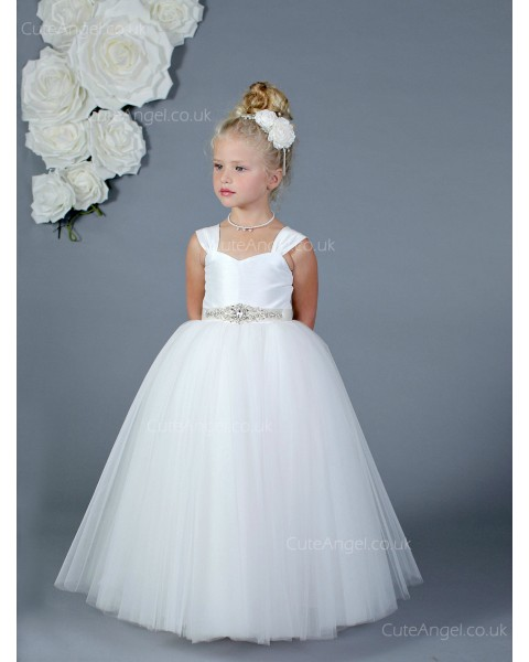 Girls Dress Style 0619918 White Floor-length Beading Sweetheart Ball Gown Dress in Choice of Colour