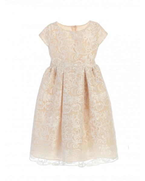 Girls Dress Style 0620718  Tea-length  Bateau A-line Dress in Choice of Colour