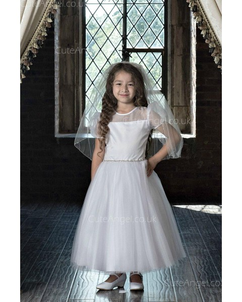 Girls Dress Style 0623718 Ivory Ankle Length Beading Round A-line Dress in Choice of Colour