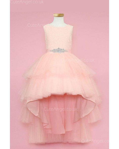 Girls Dress Style 0624018 Pearl Pink Ankle Length Beading Bateau A-line Dress in Choice of Colour