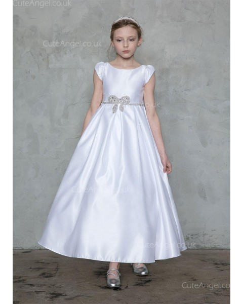 Girls Dress Style 0626918 Ivory Ankle Length Belt Bateau A-line Dress in Choice of Colour