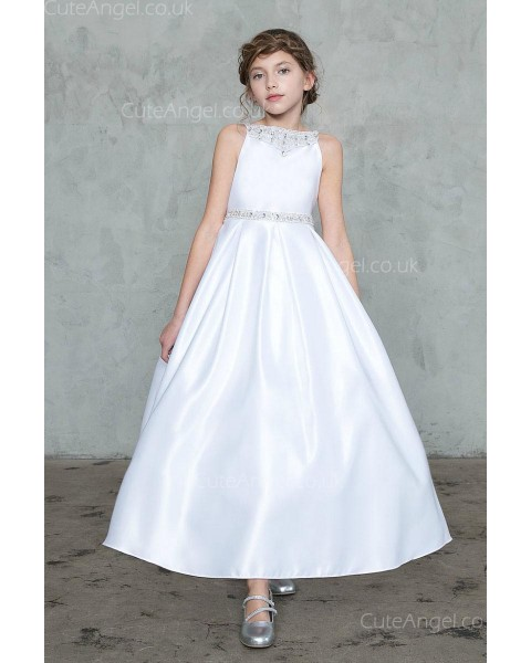 Girls Dress Style 0627118 Ivory Ankle Length Beading  A-line Dress in Choice of Colour
