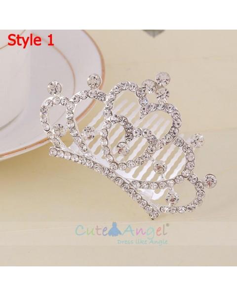 Fashion Princess Crystal Headpieces Crowns Hair Accessories
