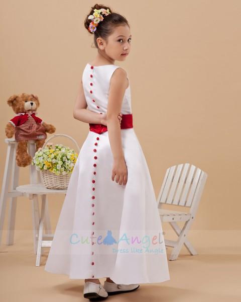 Cheap Amazing White Floor-length Organza Flower Girl Dress
