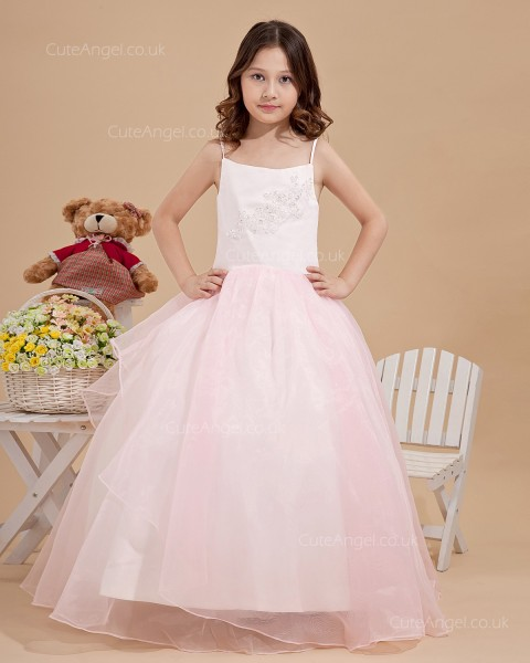 Cheap Stunning Candy Pink Knee-Length A-line First Communion / Flower Girl Dress