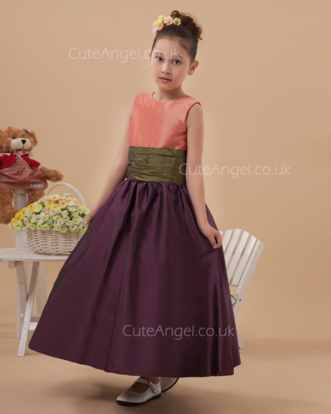 Discount  Ankle Length A-line Pageant / First Communion Dress