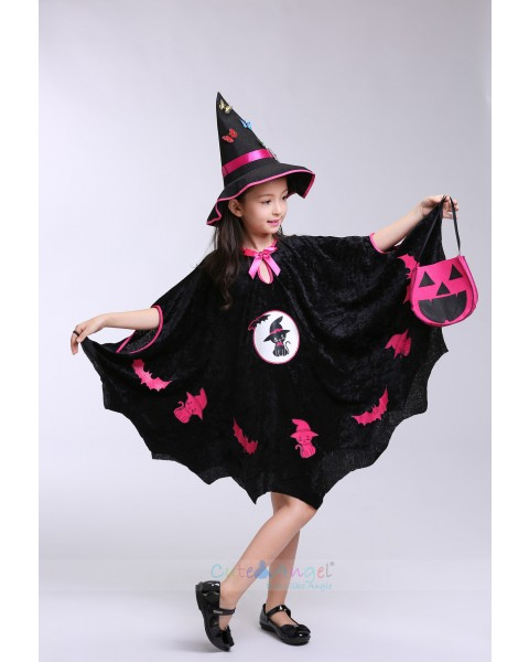 Halloween children's clothing witch bat vampire cloak cosplay masquerade performance clothing