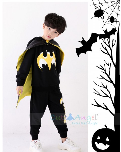 Batman Halloween Cosplay Costume for Kids Avengers Batman Muscle Jumpsuits Mask Children Boys Clothes Superhero Party Clothing