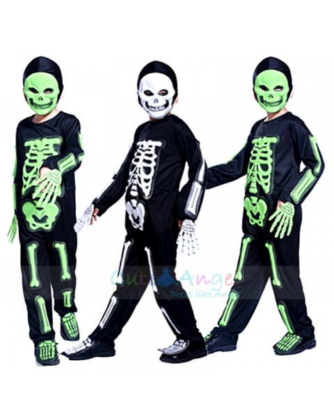 Cosplay Masquerade Halloween dresses Environmental EVA Skeleton mask Children Horror Suit