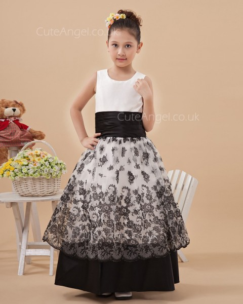 Online  Floor-length A-line Pageant / First Communion Dress