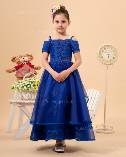 Online Romantica Royal Blue Ankle Length A-line First Communion / Pageant Dress