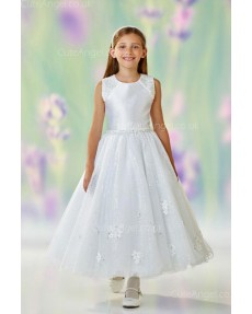 Girls Dress Style 0611518 Ivory Ankle Length Beading Round A-line Dress in Choice of Colour