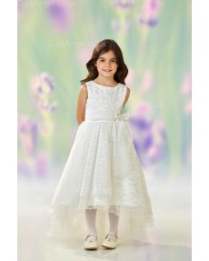 Girls Dress Style 0613118 Ivory Floor-length Lace Bateau A-line Dress in Choice of Colour