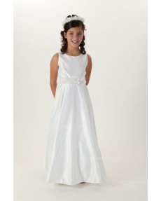 Girls Dress Style 0616918 Ivory Floor-length hand Made Flower Bateau A-line Dress in Choice of Colour