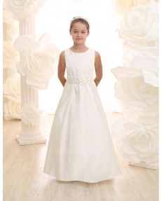 Girls Dress Style 0617118 Ivory Floor-length Hand Made Flower Bateau A-line Dress in Choice of Colour