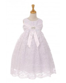 Girls Dress Style 0620518  Tea-length Bowknot Bateau A-line Dress in Choice of Colour