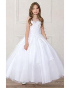Girls Dress Style 0621618 White Floor-length Applique Sweetheart Ball Gown Dress in Choice of Colour