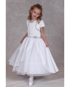 Girls Dress Style 0624618 Ivory Ankle Length Beading Round A-line Dress in Choice of Colour