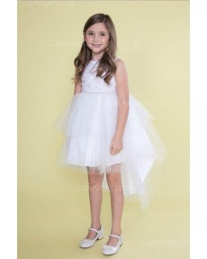 Girls Dress Style 0626418 White Mini Lace , Beading Bateau Princess Dress in Choice of Colour