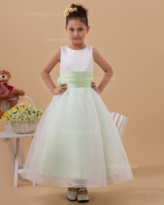 Amazing Ivory Ankle Length A-line First Communion / Flower Girl Dress