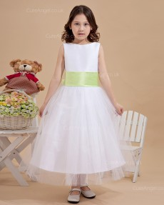 Designer Amazing Vintage Ivory Tea-length Ball Gown First Communion / Flower Girl Dress