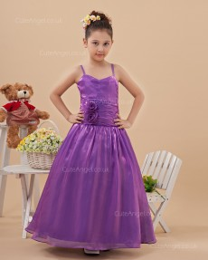 Designer Fuchsia Floor-length A-line First Communion / Pageant Dress