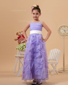 Designer Romantica Vintage Lilac Floor-length Column / Sheath First Communion / Pageant Dress
