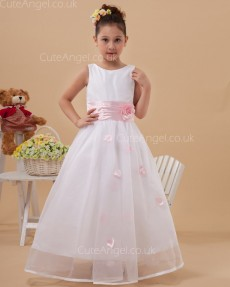 Elegant Romantica Ivory Floor-length A-line First Communion / Flower Girl Dress