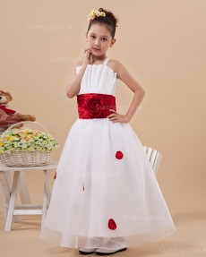 Fitted Amazing Ivory Floor-length A-line First Communion / Flower Girl Dress