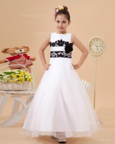 Fitted Ivory Floor-length A-line First Communion / Flower Girl Dress