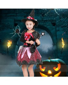 2018 New Halloween Little witch party performance costume Princess dress