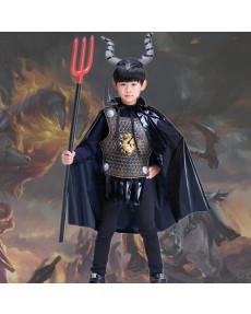 Halloween Children Costume Party performance costumes Evil flame Cattle demon