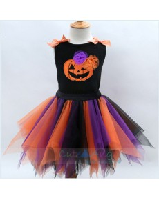 New Kids Halloween Costume Vest Handmade Skirt Set Colour Dress for Girls