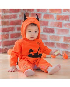 Fashion Long Sleeve Infant Baby Boys Girls Halloween Pumpkin Hooded Romper Jumpsuit Clothes Playsuit vestido infantil