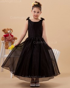 Online Romantica Black Ankle Length A-line Pageant / First Communion Dress