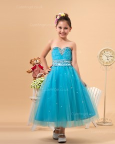 Pageant Dresses Flower Girl Dresses Style Besding Decoration Pool Dresses