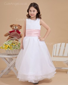 UK Girls Ivory Floor-length A-line First Communion / Flower Girl Dress