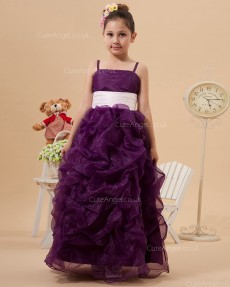 Vintage Best Grape Floor-length Column / Sheath First Communion / Pageant Dress