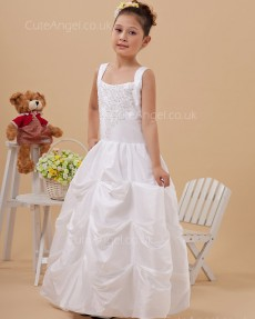 Vintage Romantica Ivory Floor-length Ball Gown First Communion / Flower Girl Dress
