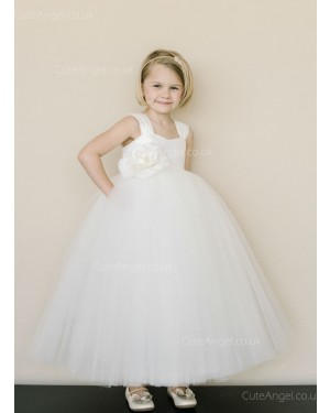 Girls Dress Style 0618918 Ivory Floor-length Hand Made Flower V-neck Ball Gown Dress in Choice of Colour
