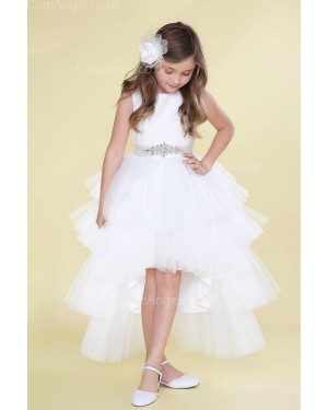 Girls Dress Style 0623918 White Ankle Length Beading Bateau A-line Dress in Choice of Colour