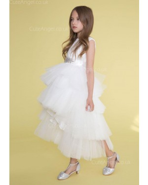 Girls Dress Style 0624218 Ivory Ankle Length Beading Bateau A-line Dress in Choice of Colour
