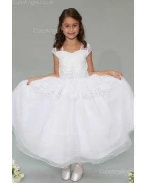 Girls Dress Style 0626018 Ivory Floor-length Lace , Beading sweetheart Ball Gown Dress in Choice of Colour
