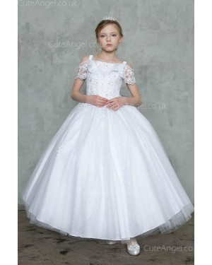 Girls Dress Style 0628118 Ivory Floor-length lace Bateau Ball Gown Dress in Choice of Colour
