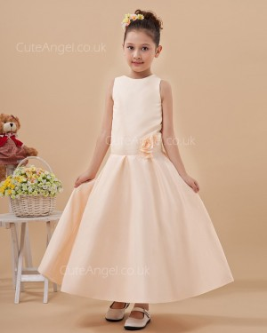 Budget Pearl Pink Ankle Length A-line Pageant / First Communion Dress