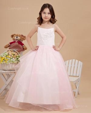 Cheap Stunning Candy Pink Knee-Length A-line First Communion / Flower Girl Dress